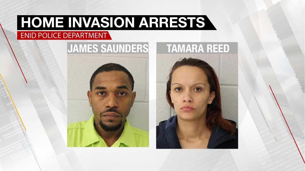 Enid PD: 2 Arrested In Violent Home Invasion