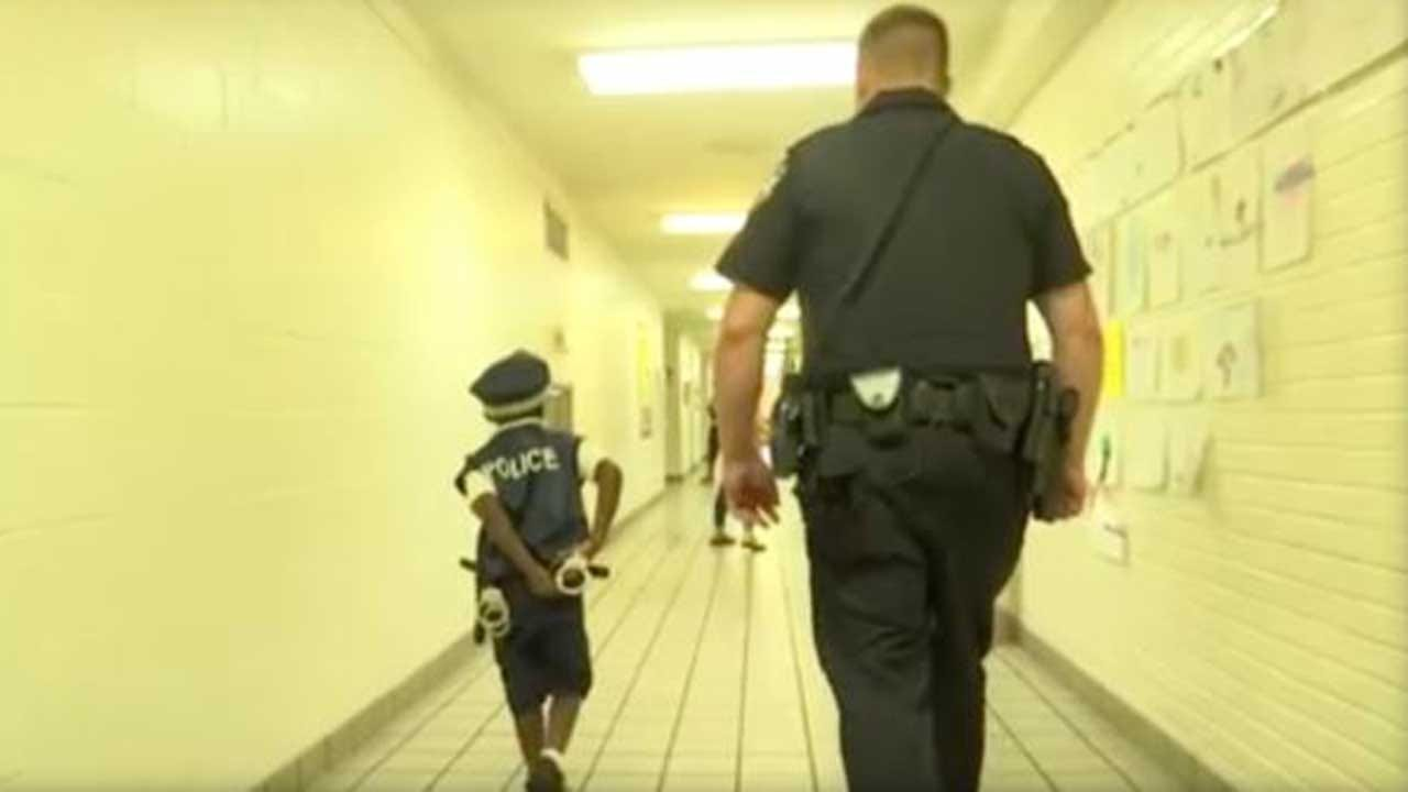 6-Year-Old Boy Who Can't Play Outside Due To Rare Disease Finds A Friend In School Resource Officer