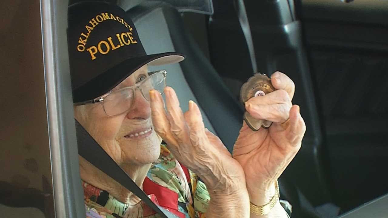 Woman Celebrates 102nd Birthday With OCPD Joyride