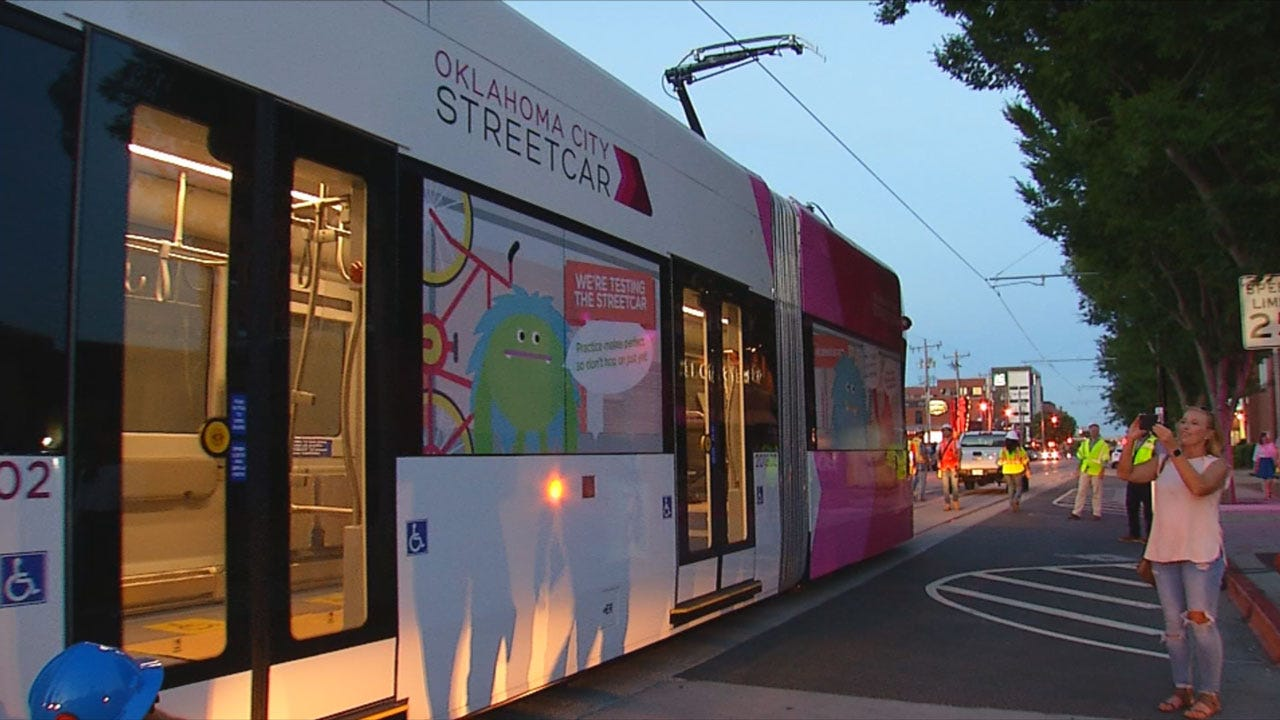 OKC Streetcar Makes Official Debut Friday