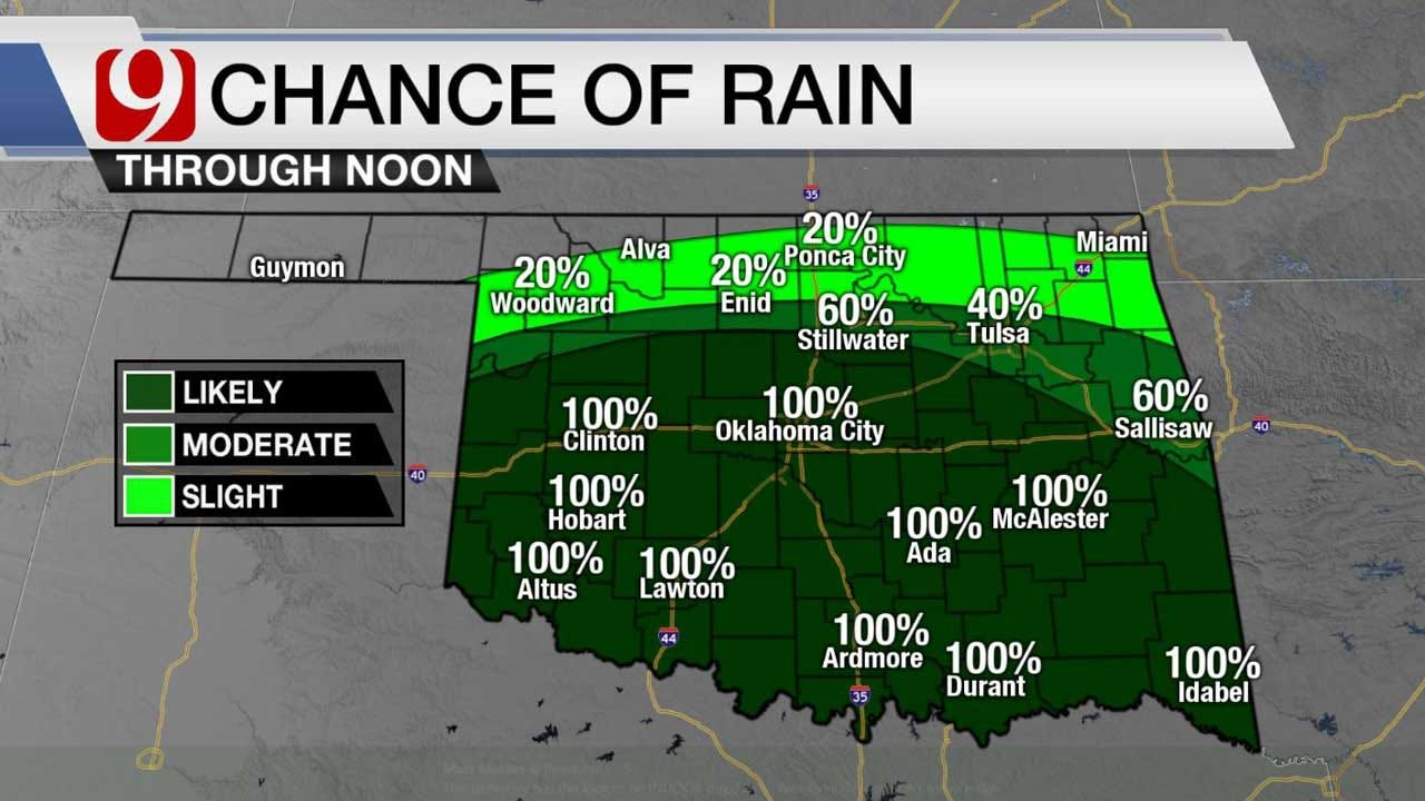 Chilly And Cloudy Saturday Morning As Rain Showers Continue