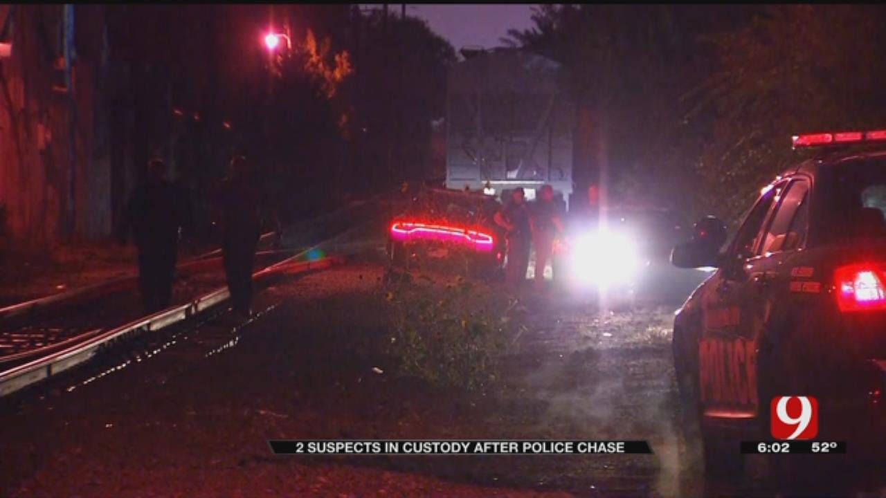 2 Suspects In Custody After Police Chase Ends In SW OKC