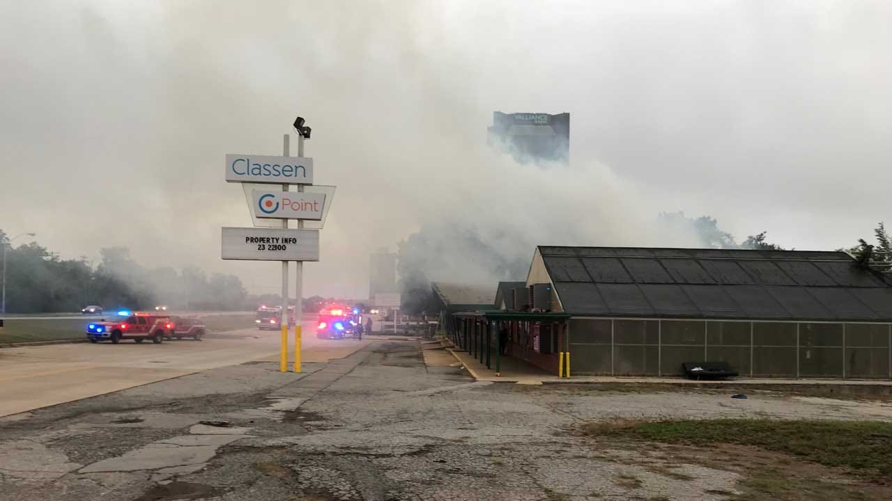 Crews Battle Commercial Fire At 'Horn Seed' Building In OKC
