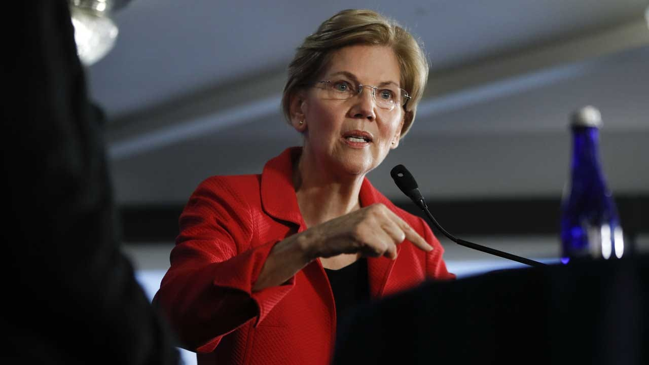 Warren Says Tech Giants Have 'Too Much Power,' Need Breakup
