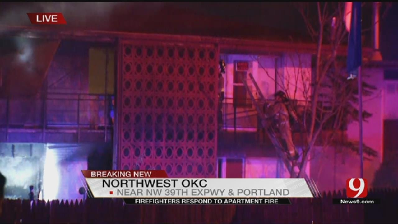 Fire Crews Battle Apartment Fire In NW OKC