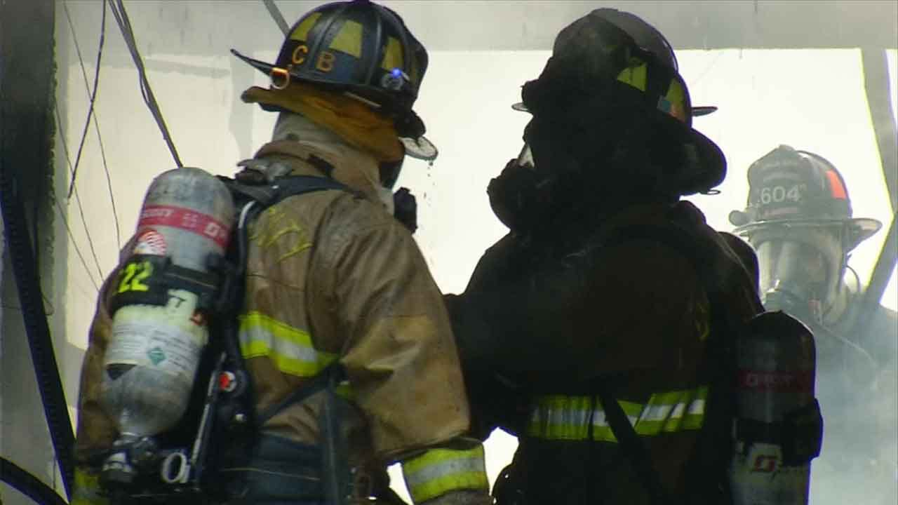 Crews Respond To Metal Barn Fire In SE OKC