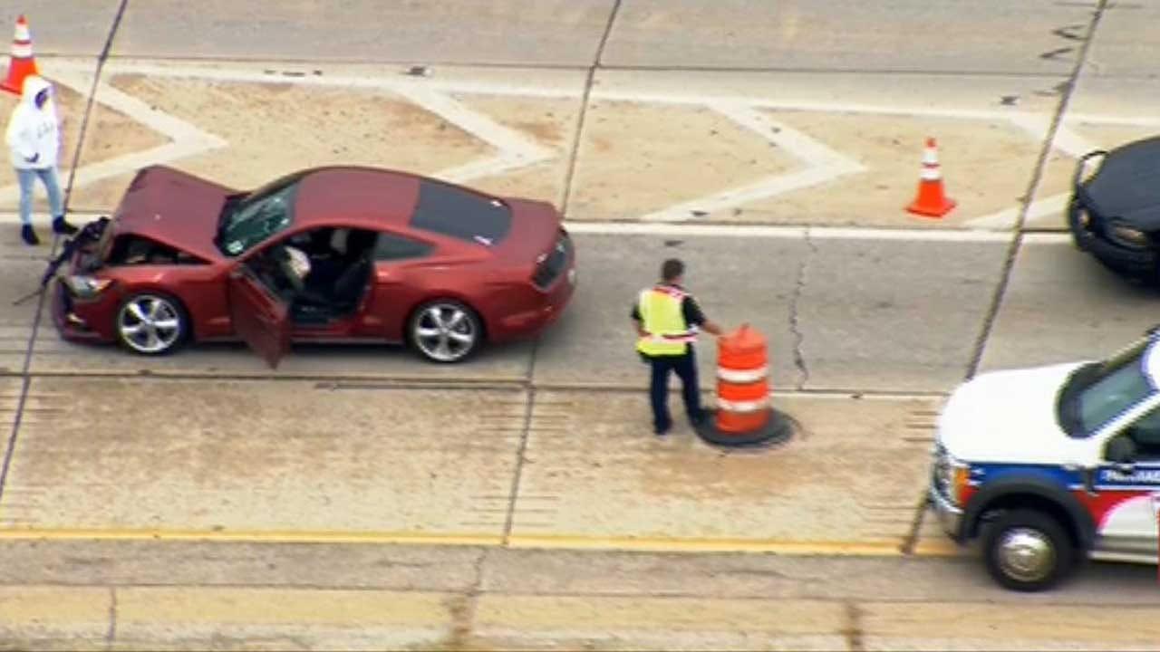 OKC Emergency Crews Respond To Crash On WB I-44