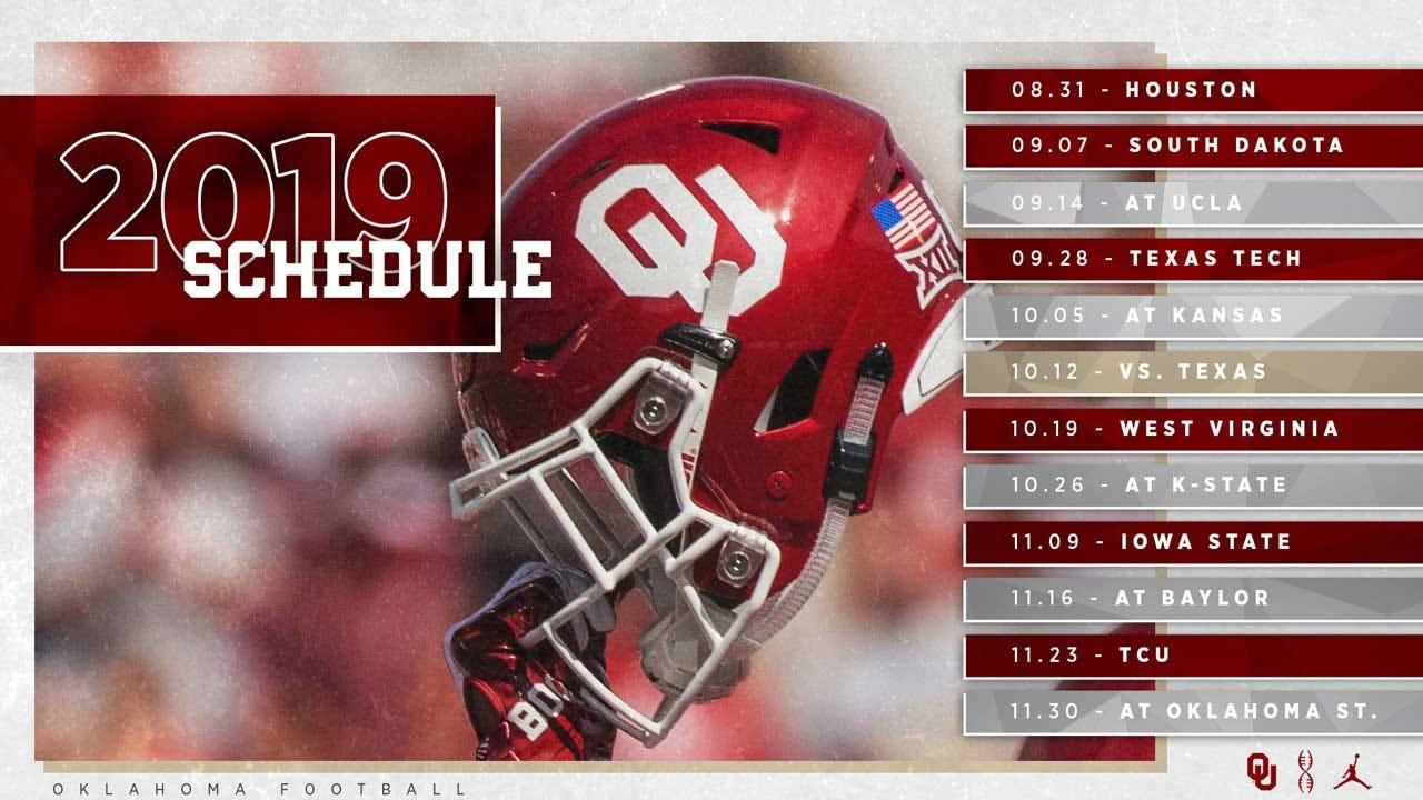 OU Announces 2019 Football Schedule
