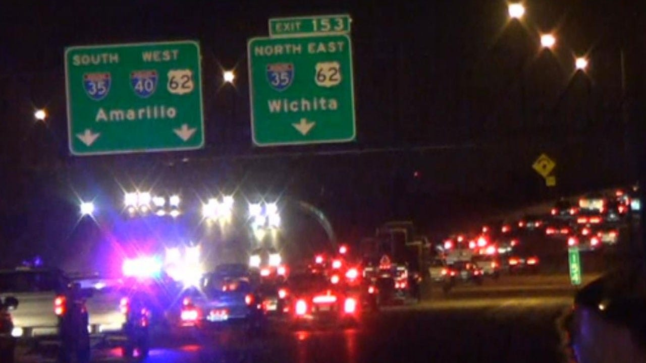Crews Respond To Fuel Spill On I-40 WB Near I-35 Off Ramp Friday