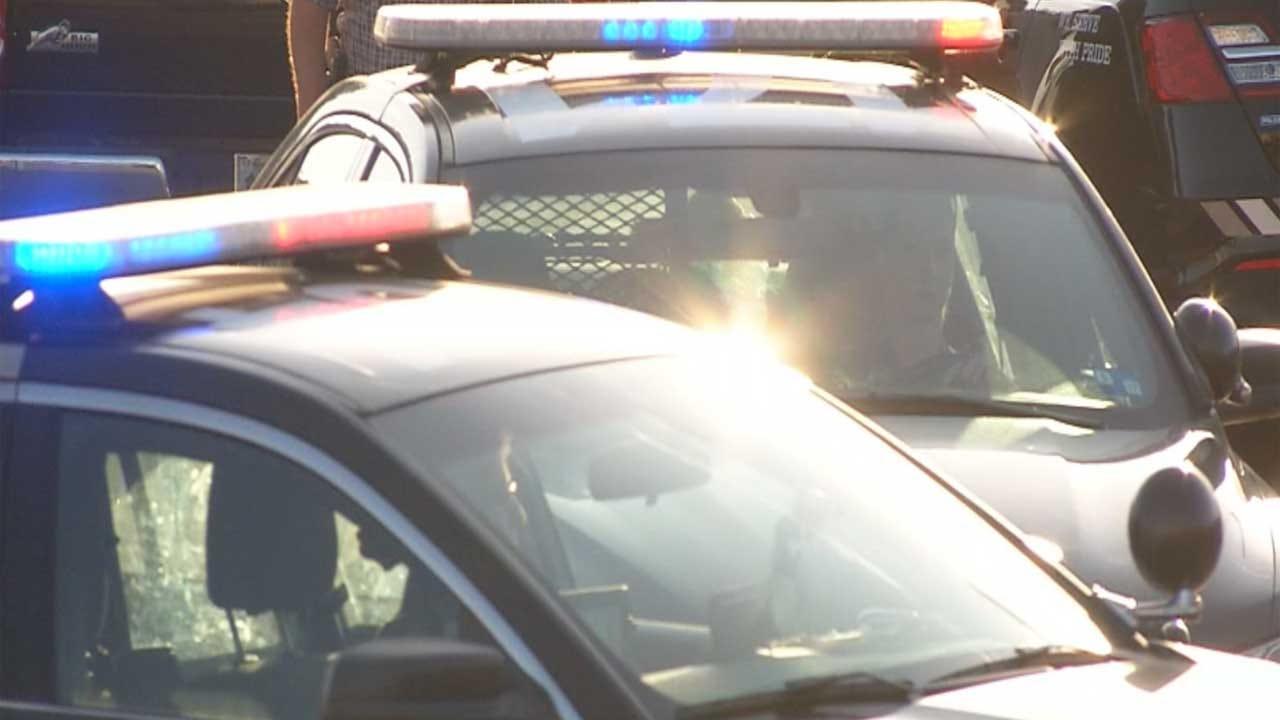 Officials Respond To Car Crash Into Building Near El Reno