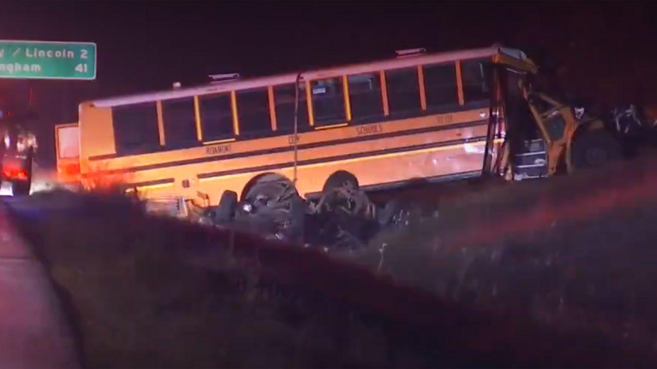 1 Dead, 11 Injured In Alabama School Bus Crash