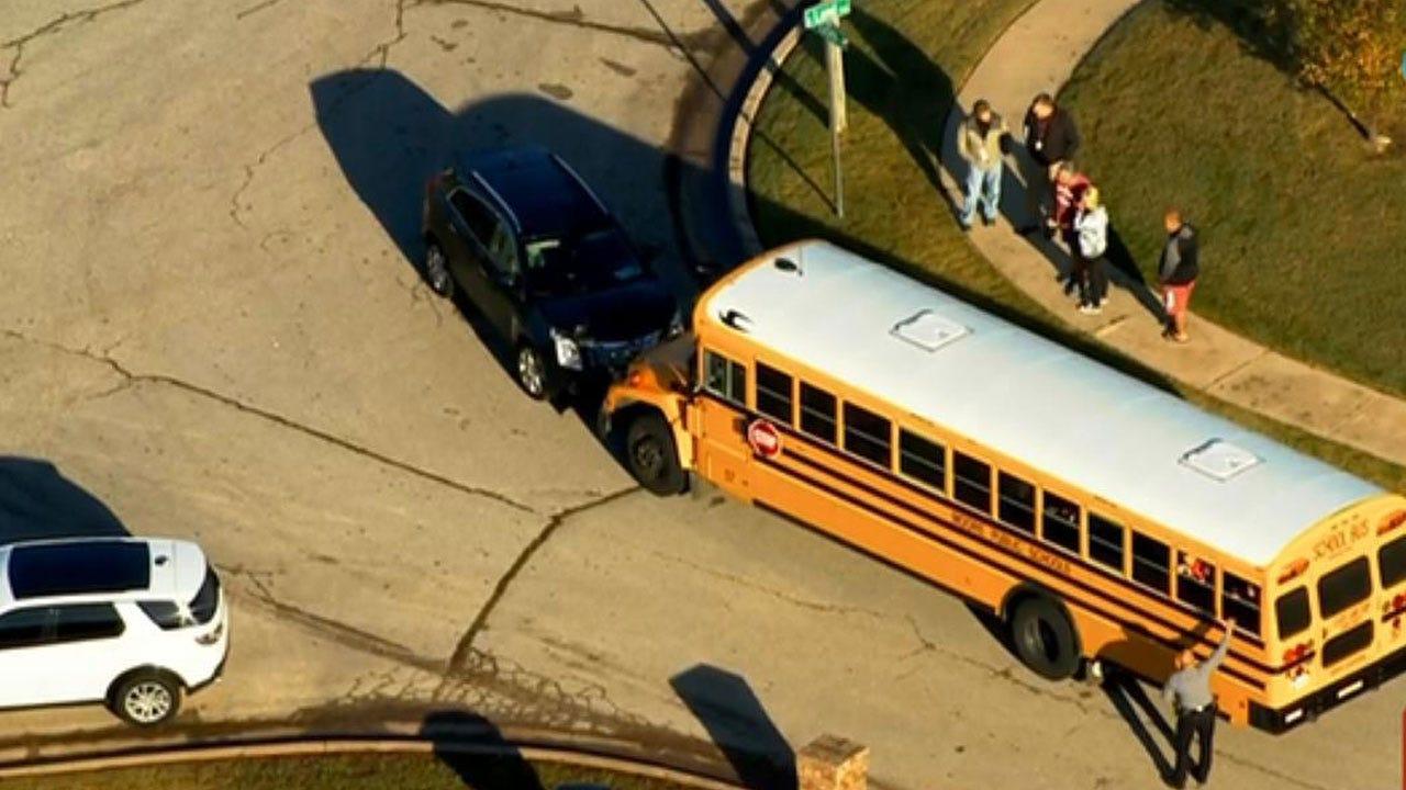 Moore Students Uninjured In Head-On School Bus Crash