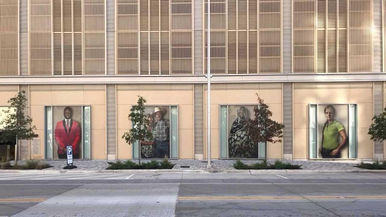 New OKC Art Installation Promotes Unity Through Photo Portraits