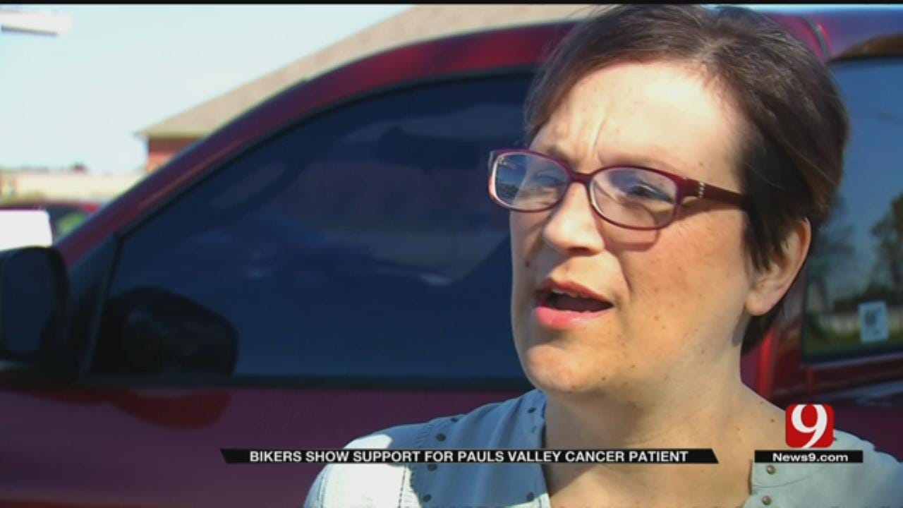 Bikers Show Support For Pauls Valley Cancer Patient