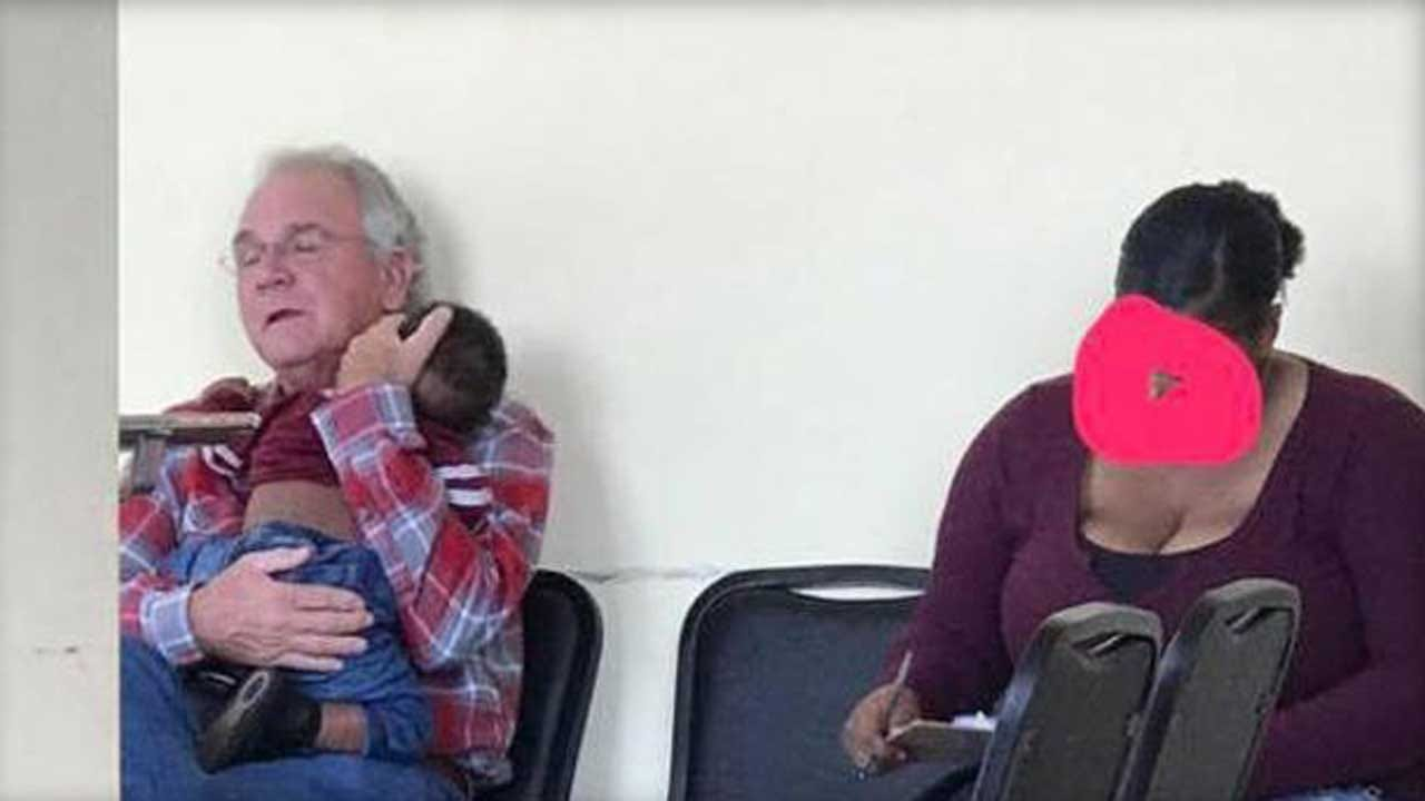 Viral Photo Shows Man Soothing Baby For Mother At Doctor's Office