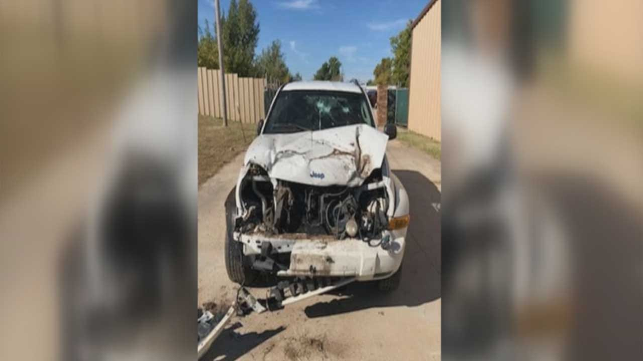 Witnesses Rush To Aid Of Woman After Semi Tire Hits Vehicle