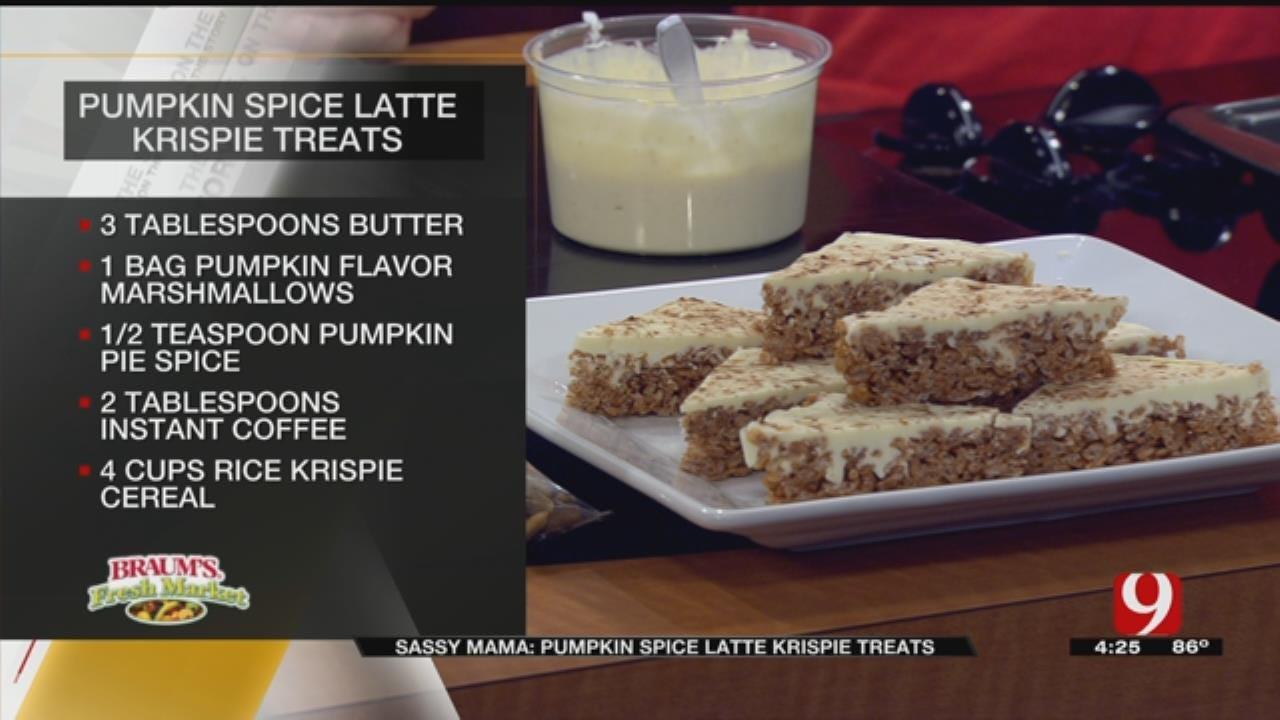 Pumpkin Spice Latte Krispie Treats