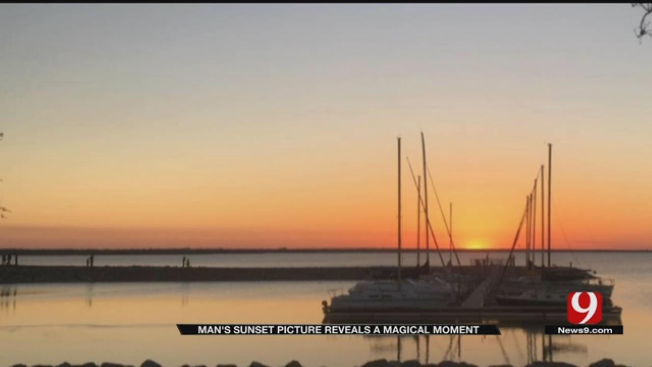 OKC Man's Sunset Photo Captures A Magical Moment