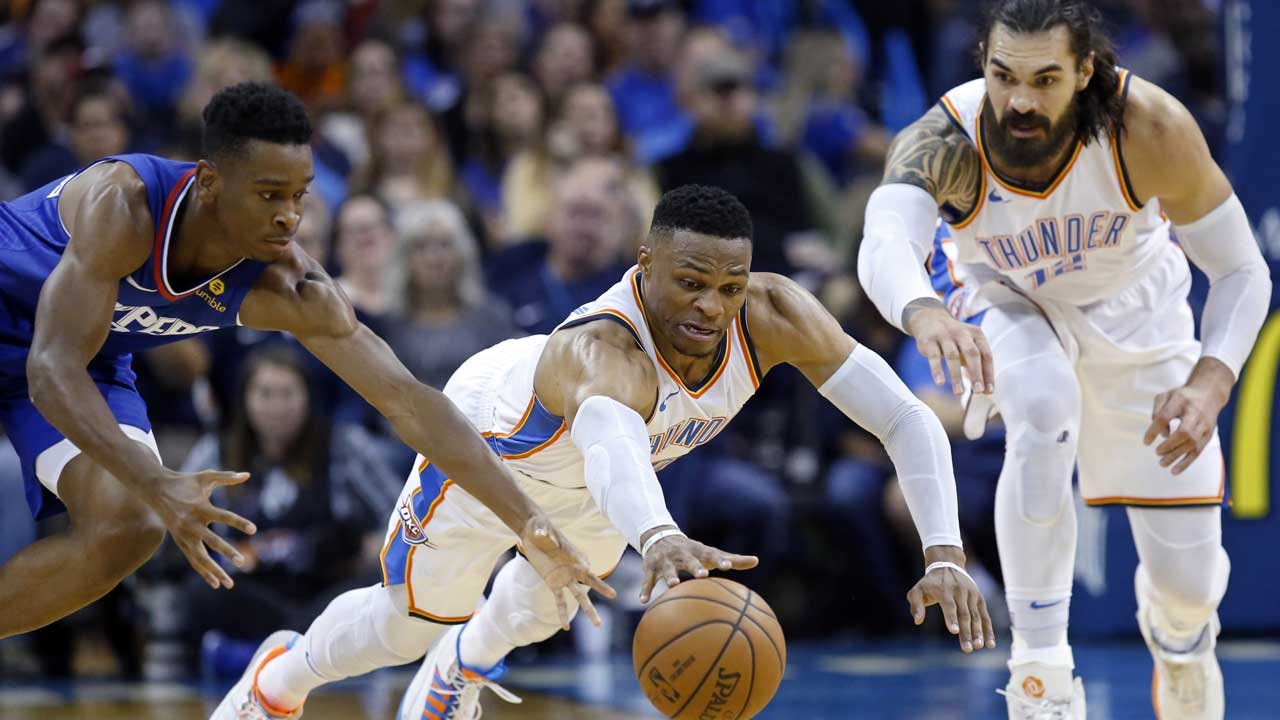 Westbrook Scores 32, Tussles With Beverley As Thunder Roll