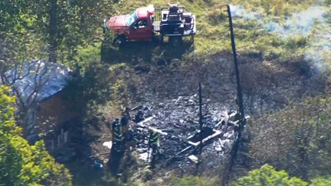 Firefighters Extinguish Blaze Near Harrah Trailer Home