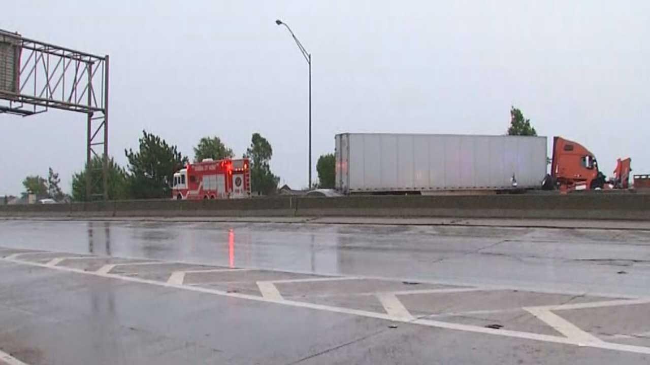 Crews Respond To Accident Involving Semi On EB I-44