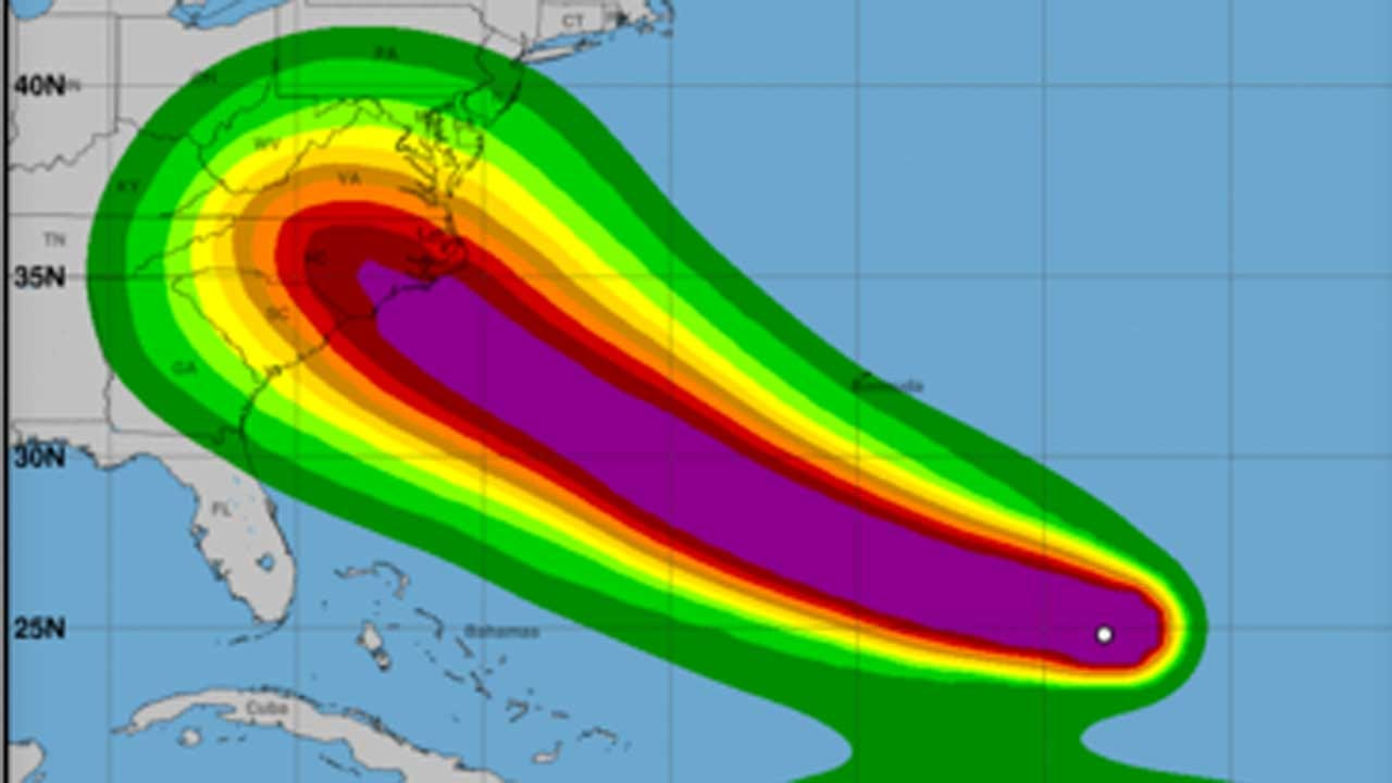 Hurricane Florence Strengthens Fast On Path For East Coast