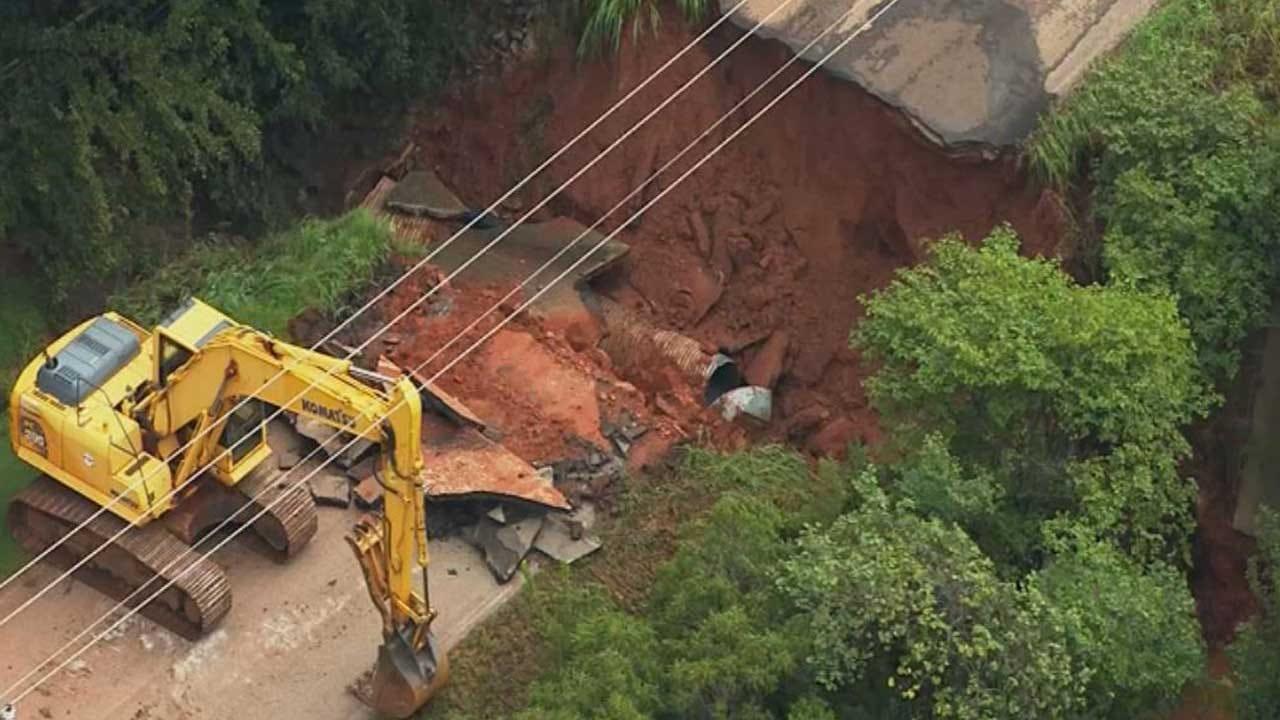 Logan County Road Washout Creates Big Problems