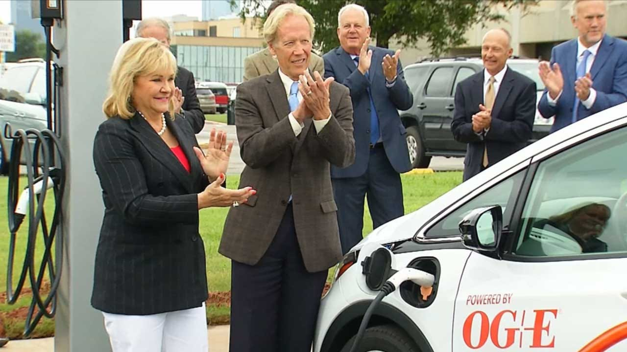ODOT Unveils First Electric Car Charging Station At State Capitol Complex