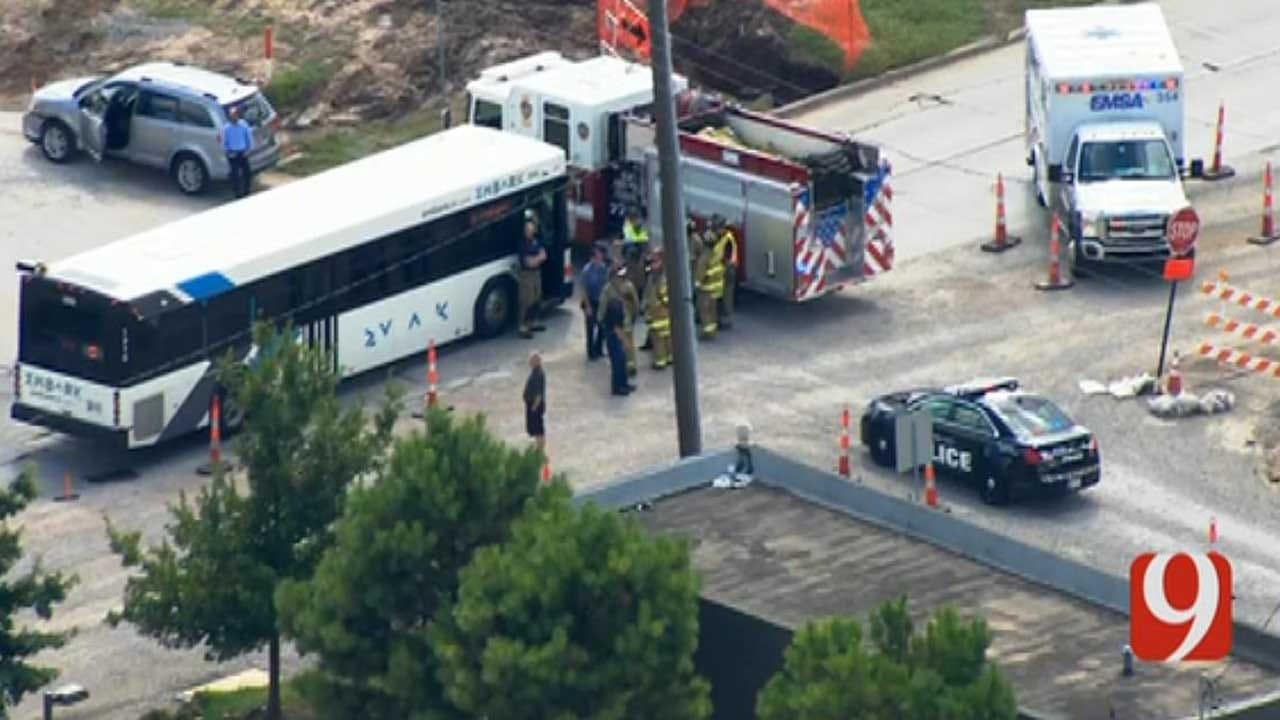 Crews Respond To Crash Involving EMBARK Bus In Downtown OKC