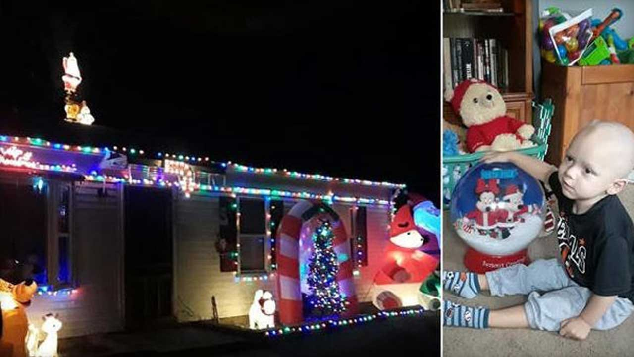 Neighborhood Celebrates Christmas Early For 2-Year-Old Boy Dying Of Brain Cancer