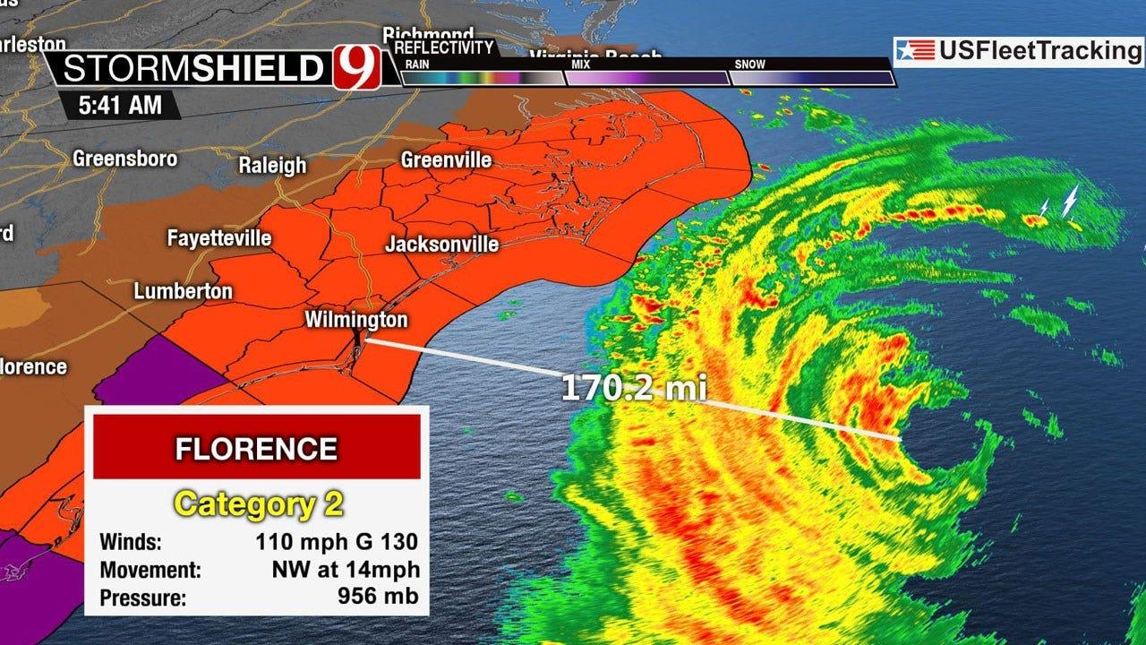 Hurricane Florence's Outer Rain Bands Nearing N.C. Coast