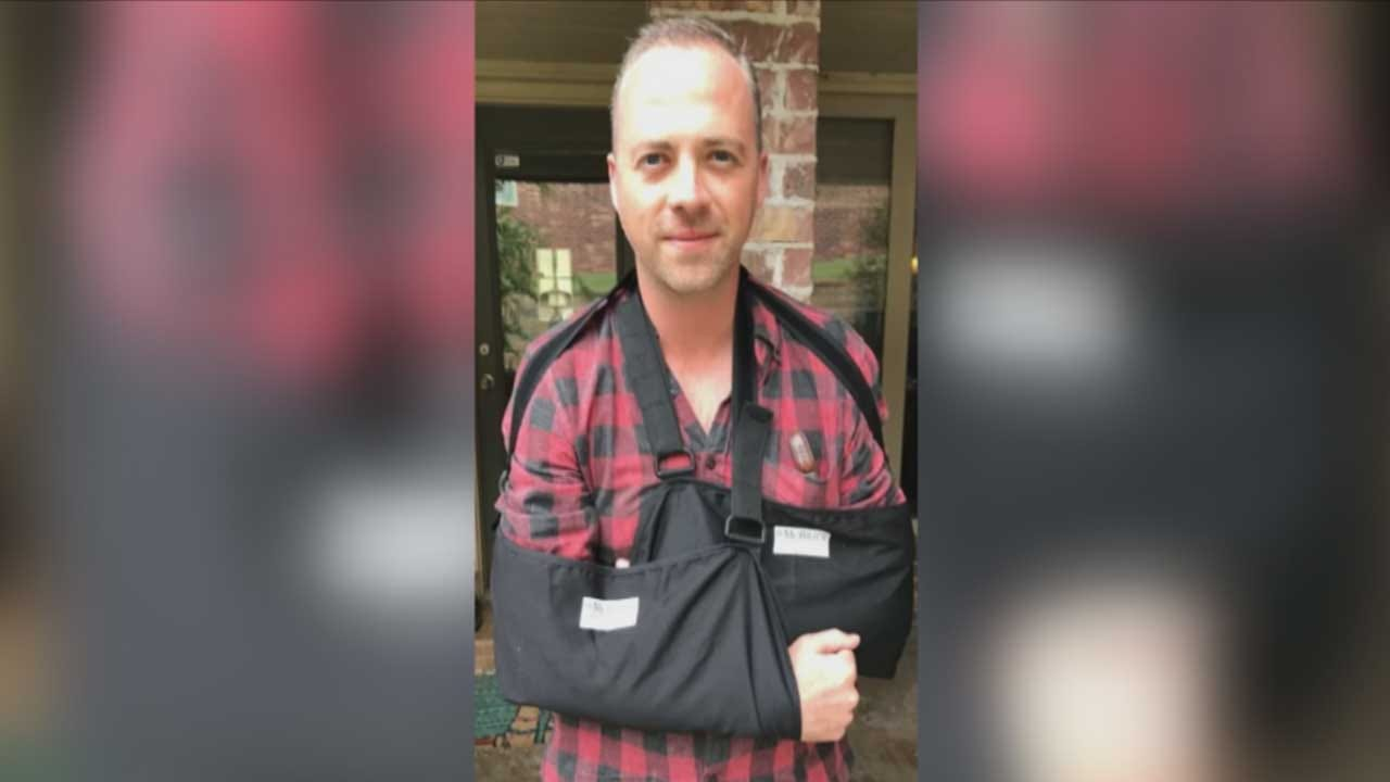 OKC Man Breaks Both Arms In Scooter Accident