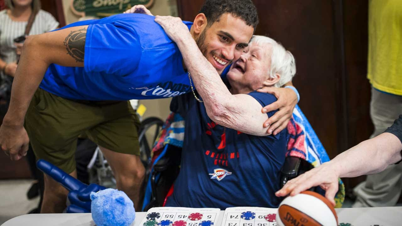 Thunder Players Visit Senior Center In Edmond