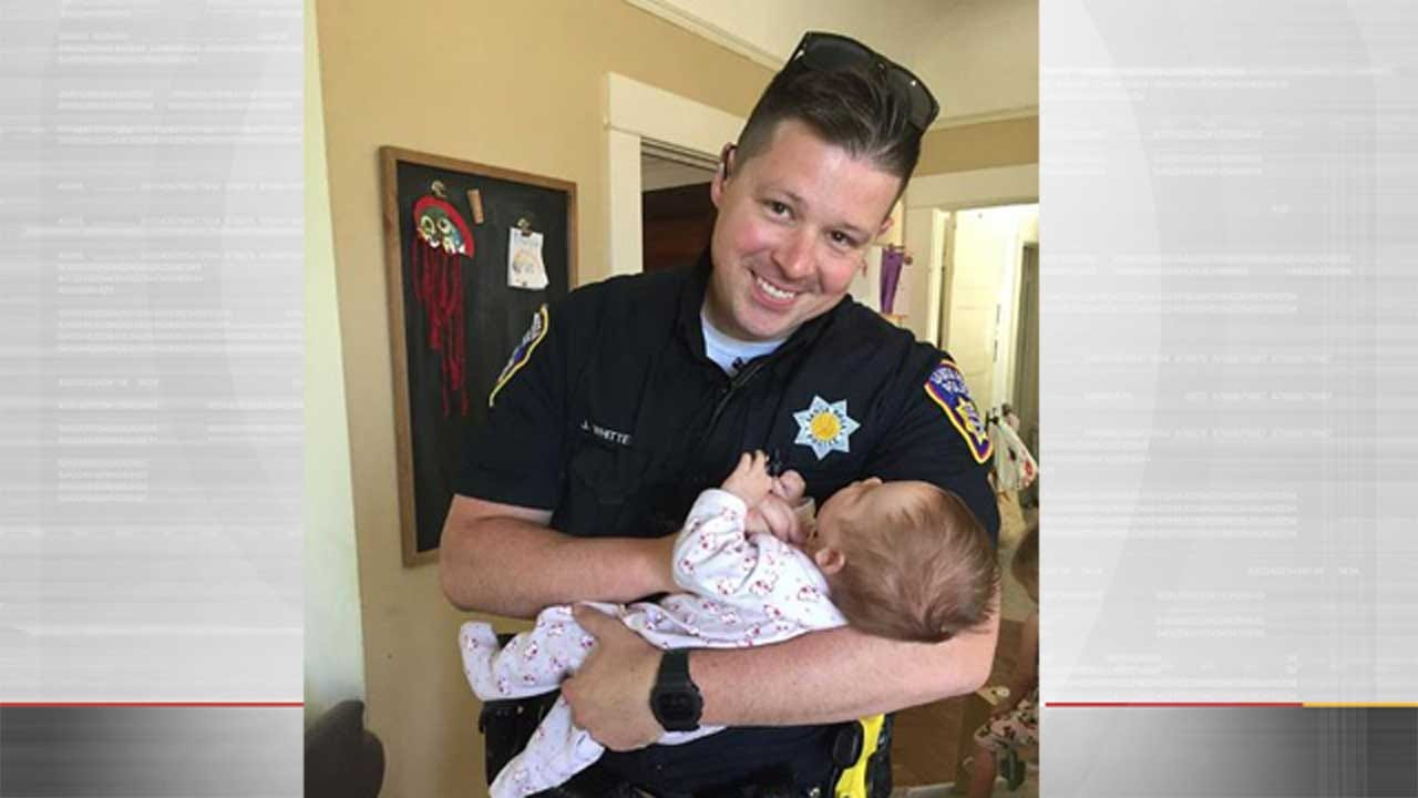 Police Officer Adopts Baby Daughter Of Homeless Woman Battling Drug Addiction
