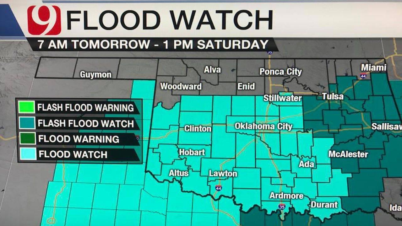 Flash Flood Watch In Effect As Rain Train Arrives Friday