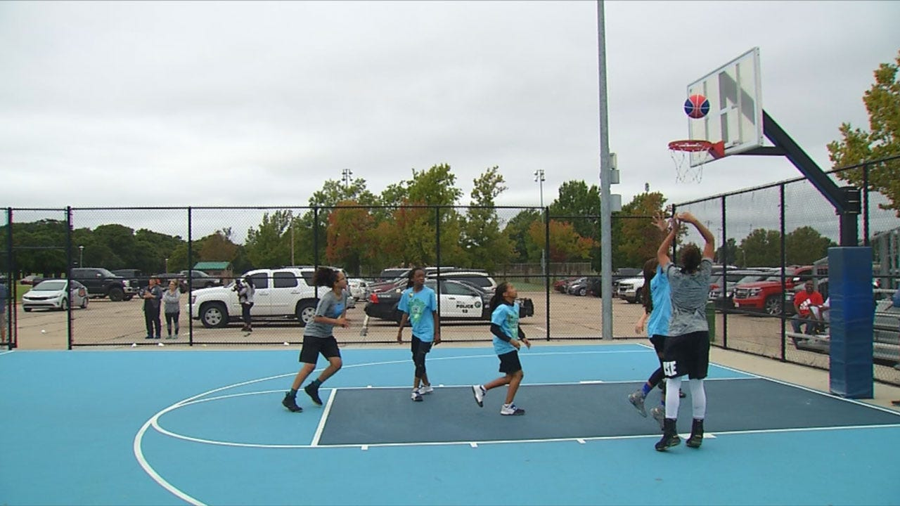 MWC Police Bond With Kids During Annual Basketball Tourney