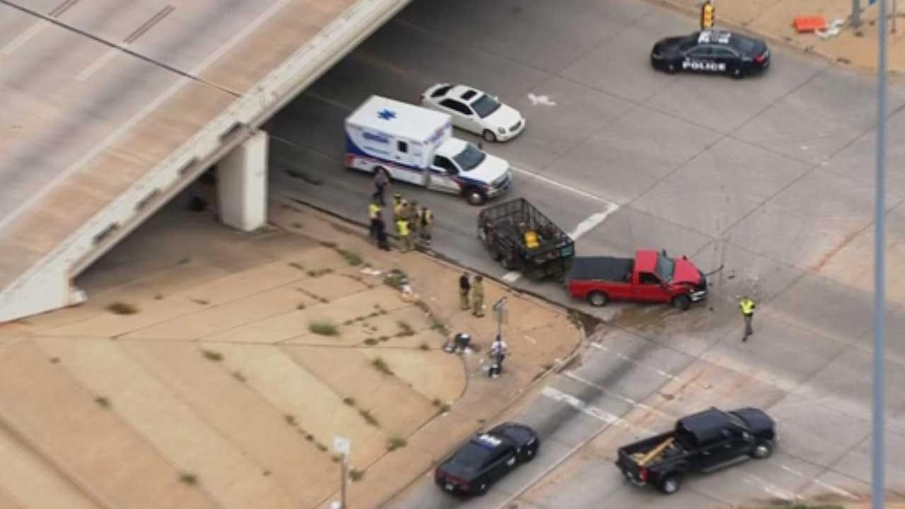Crews Respond To Reported Injury Crash Involving Semi In OKC