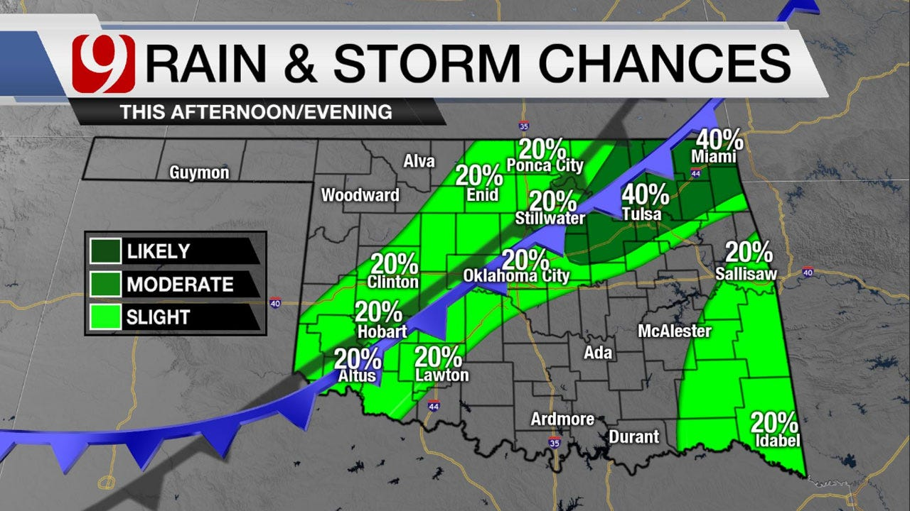 Cold Front Moving In Oklahoma Late Tuesday