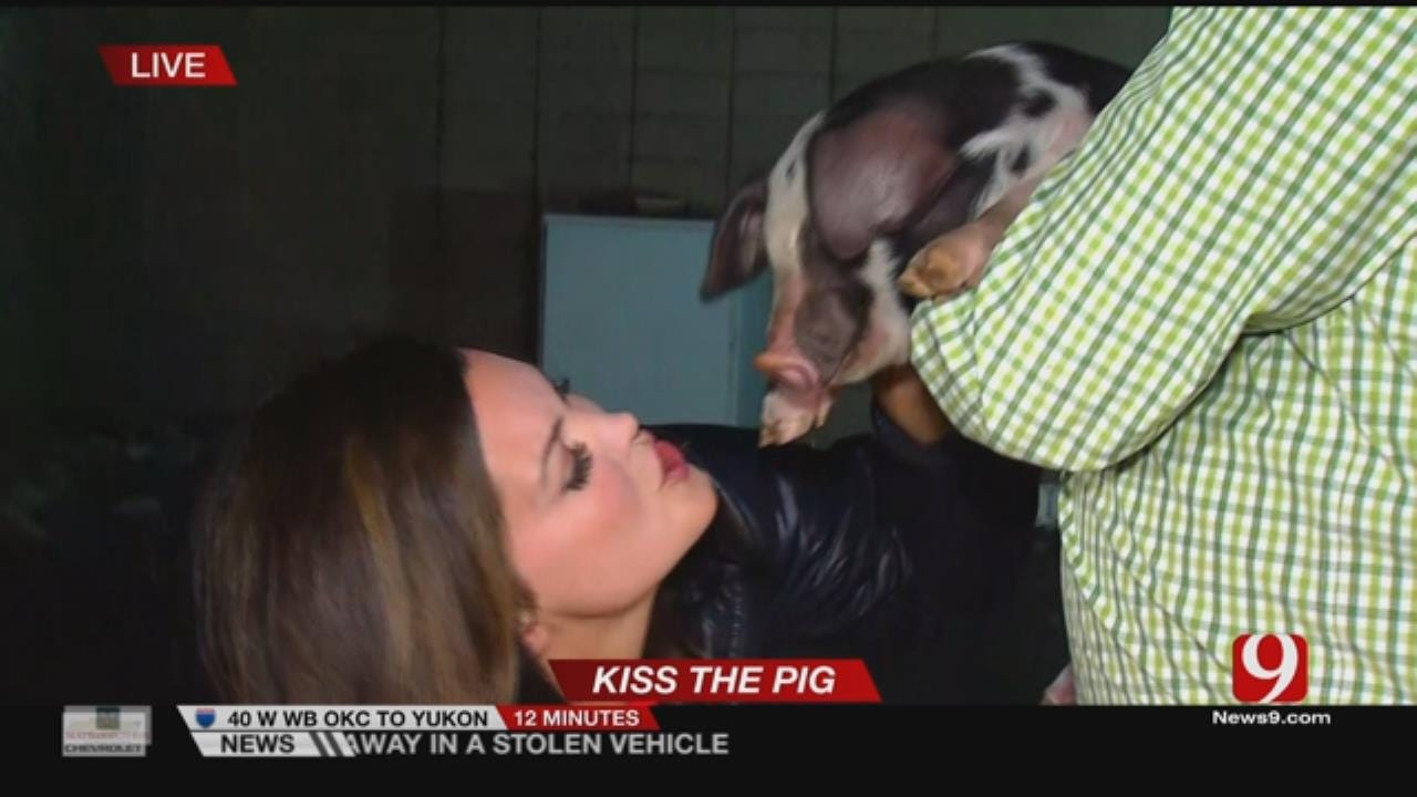 Pucker Up!: Lacie Lowry Kisses 2 Pigs After Viewers Donate To Hungry Kids