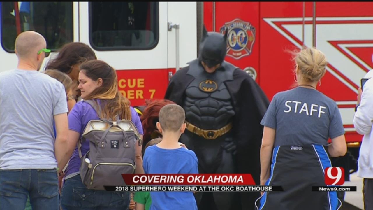 Superhero Weekend Kicks Off At The OKC Boathouse