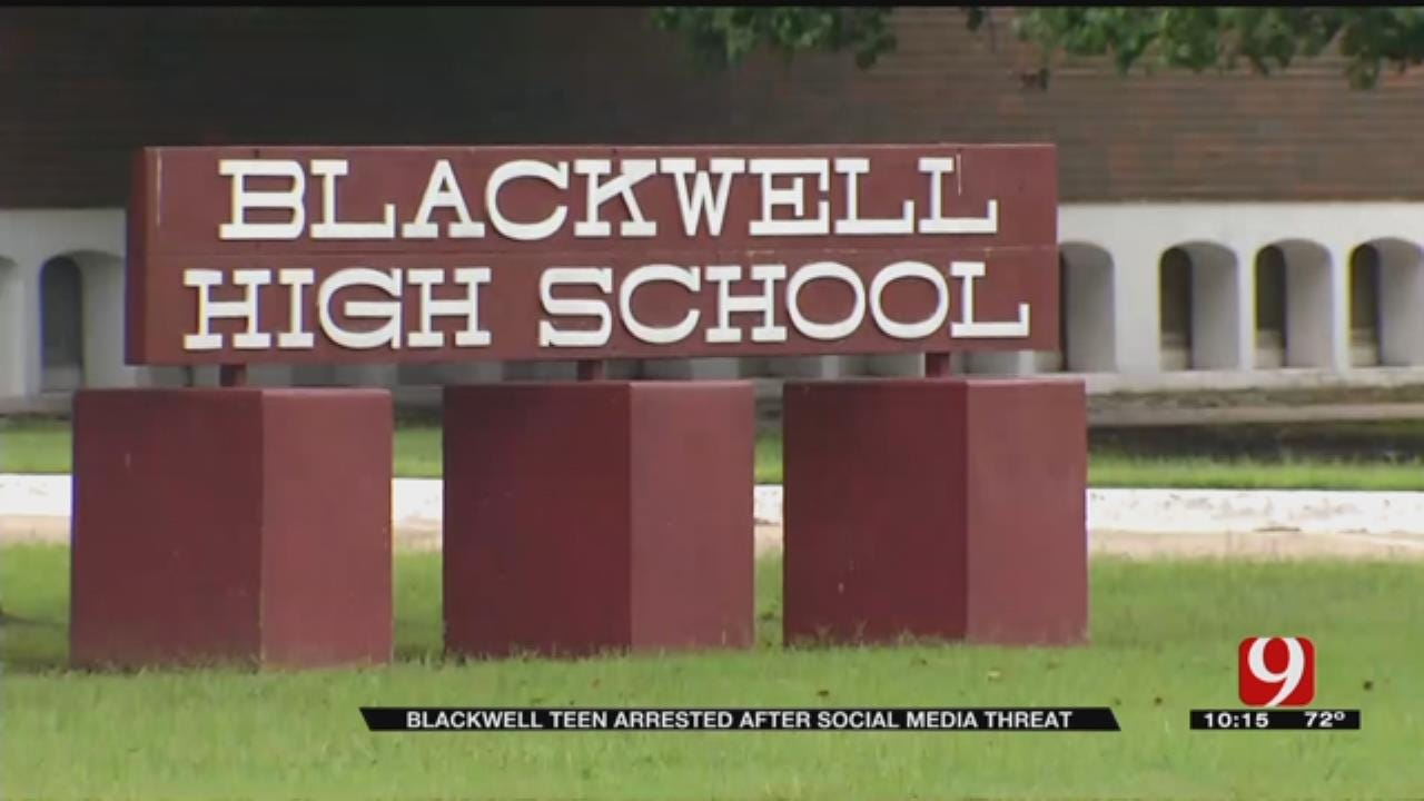 Blackwell Teen Arrested After Social Media Threat