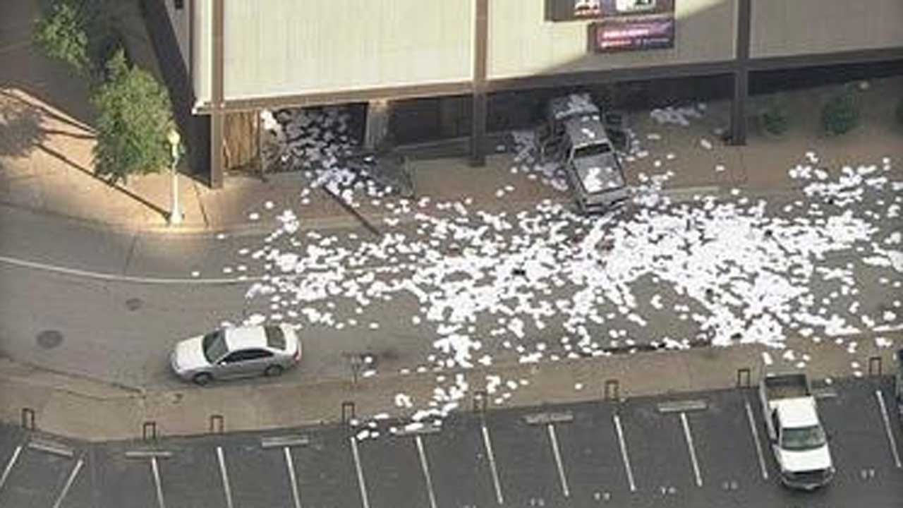 Man Crashes Truck Into Dallas TV Station During Live Newscast