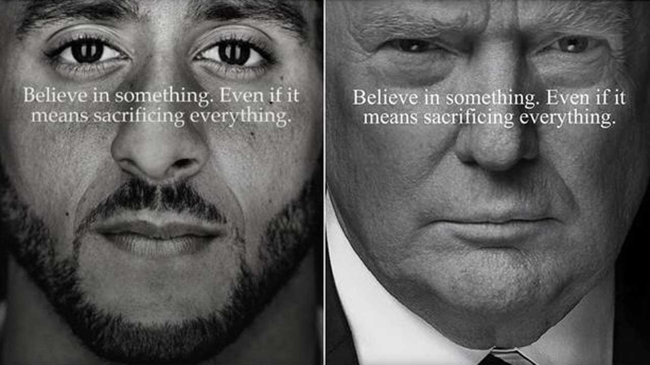 Donald Trump Jr. Says He 'Fixed' Kaepernick Nike Ad With Father's Face