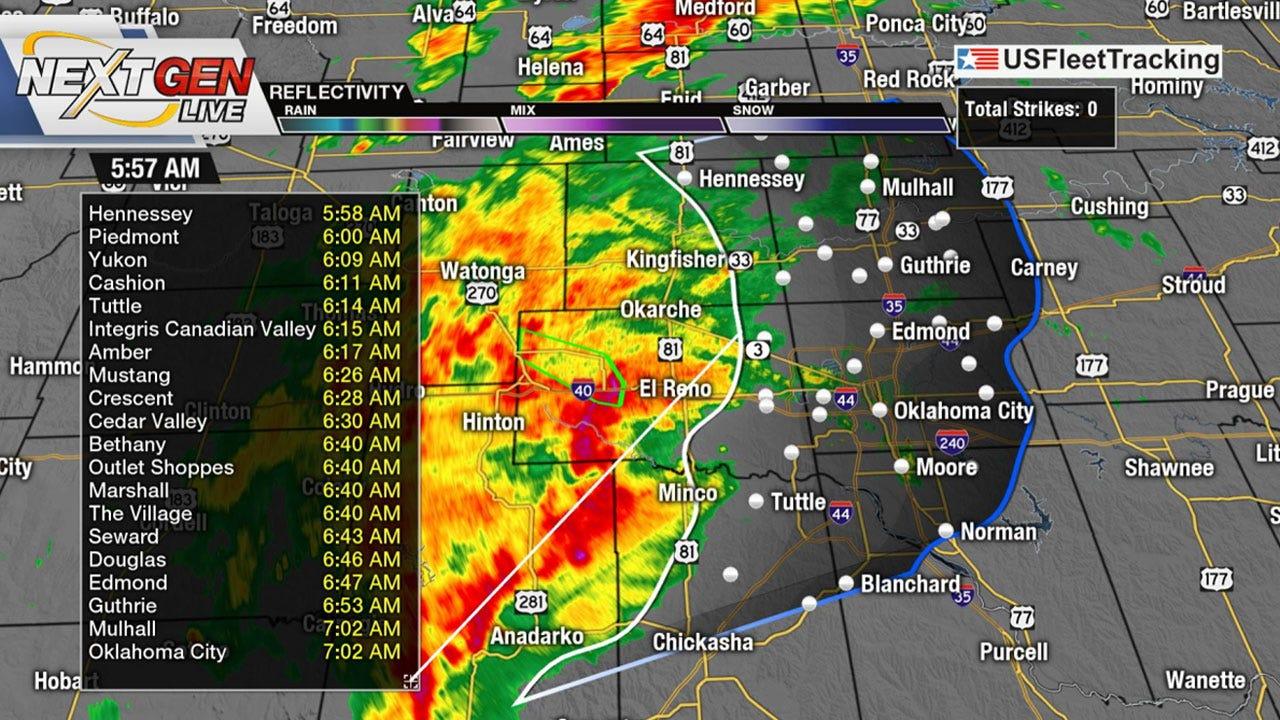 Heavy Rain Moving Into OKC