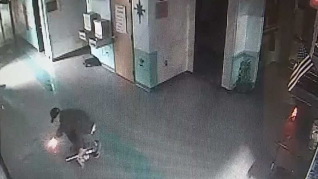 WATCH: Video Shows Strother Elementary Arson Suspect Setting The Fire