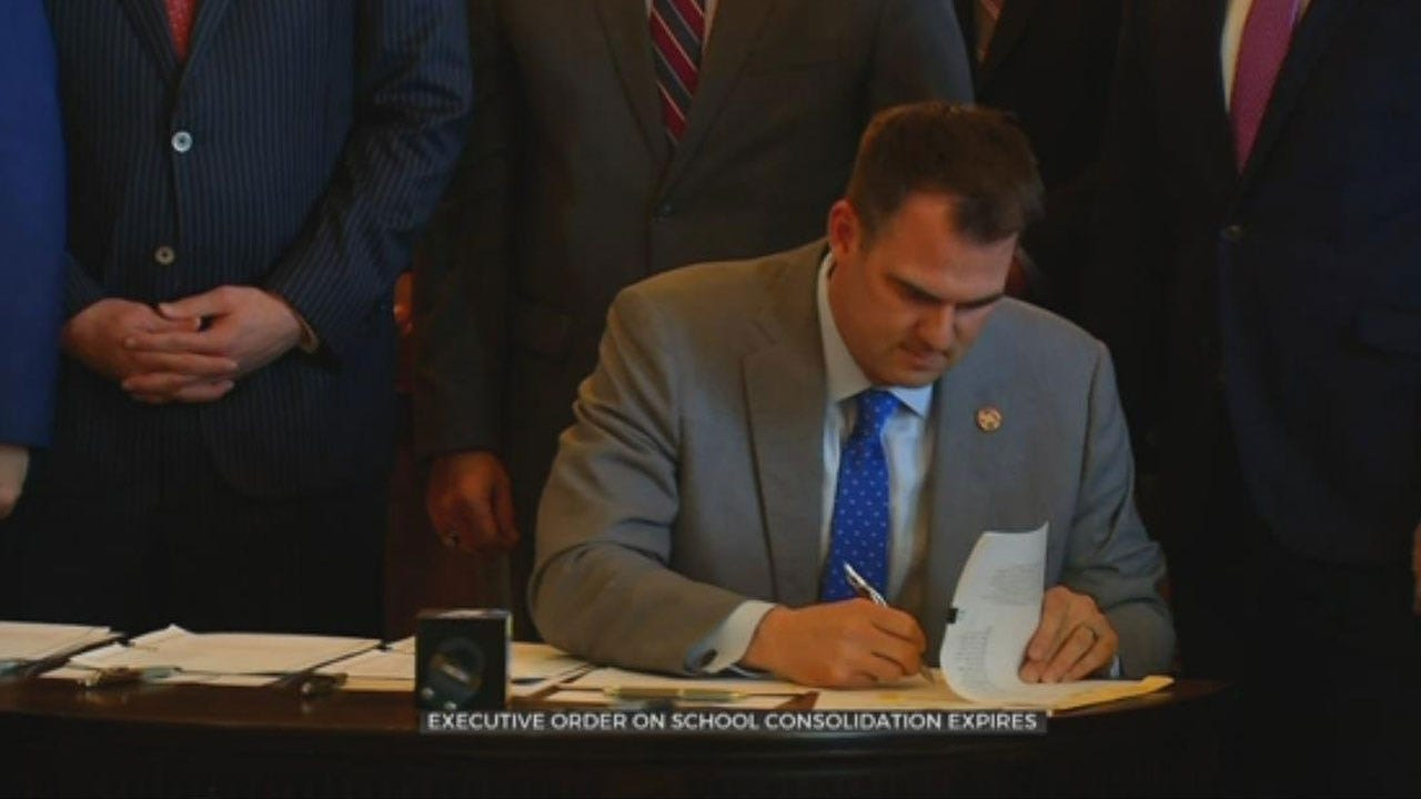 Breaking With Fallin, Stitt Allows Consolidation Study Over Lapse, Keeping Campaign Promise