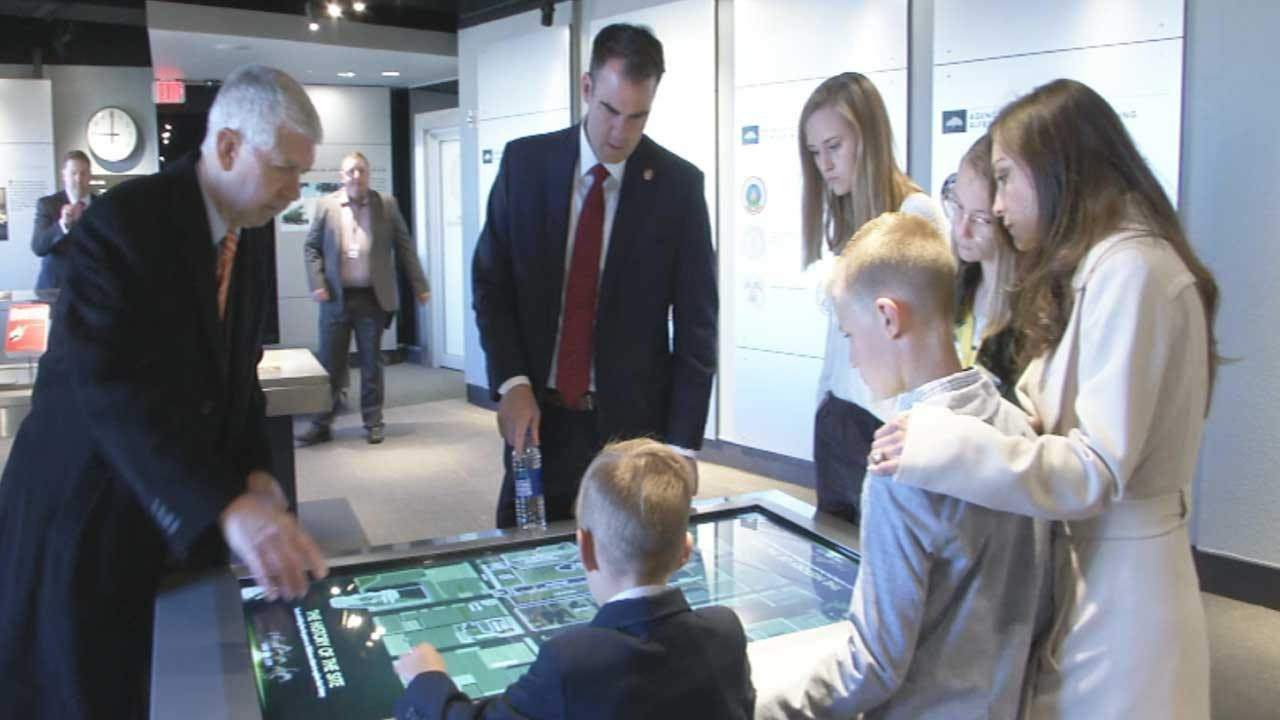 Governor Stitt, Family Tour OKC National Memorial Museum For First Time