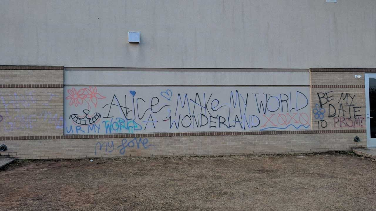 Promposal Graffiti Investigated By Shawnee Police, District
