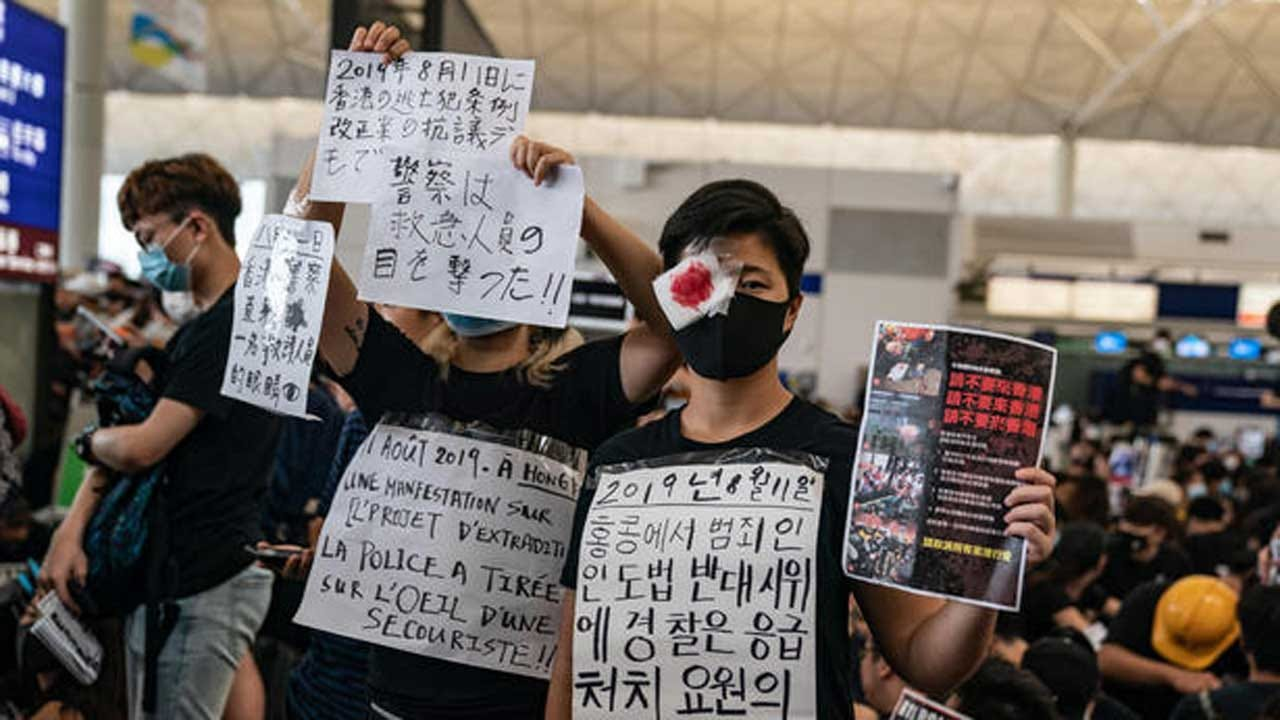 Hong Kong Protests Paralyze 1 Of Asia's Busiest Airports As China Cracks Down
