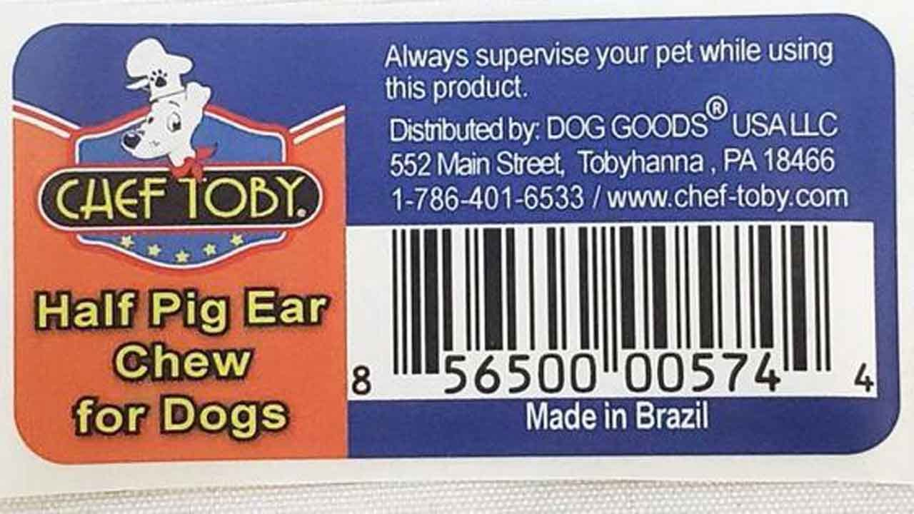 Dog Goods USA Recalls Pig-Ear Treats In 33-State Outbreak Of Salmonella